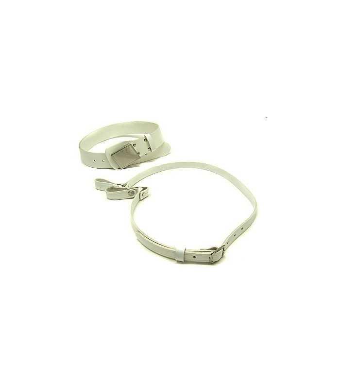 1V53 - Cinturone in pelle con spallacio e fibbia a cassetta per Polizia municipale e Vigilanza